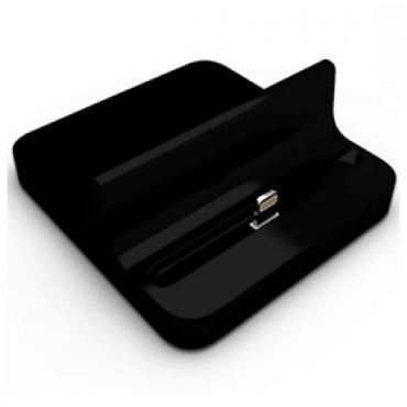 Docking Station Charger For Ipad 4/ Ipad Mini/ Iphone 5 Desktop Data Sync Cradle Dock Black