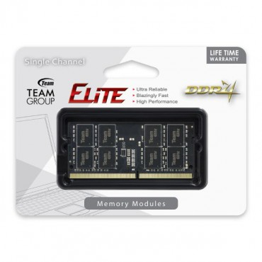 Team Elite SODIMM PC-19200 DDR4 2400MHz 1x8GB CL16 260Pin, 1.2V TED48G2400C16-S01
