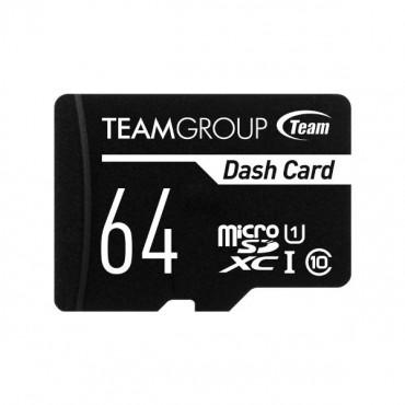 Team Dash Card 64GB USH-1 Micro SD Card TDUSDX64GUHS03