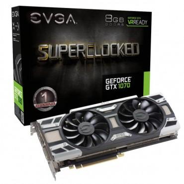Evga Geforce Gtx 1070 Sc Gaming 08g-p4-6173-kr 8gb Gddr5 Acx 3.0 & Led- Limited Promo Stock
