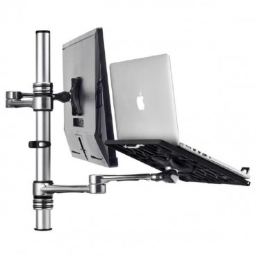 Atdec Notebook Monitor Arm Combo Mount - Silver Af-At-Nbc-Pc