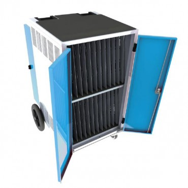 Gilkon Lcmt-30 - 30 Bay Pc Vault Trolley W/ Eco System - Blue Doors 2 Lcmt-30 (Blue)