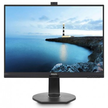 "Philips 27"" Quad Hd Led 2560 X 1440 Height Adj Pivot Dp Hdmi Mini-dp Vga Speakers Vesa Pop-up Webcam"
