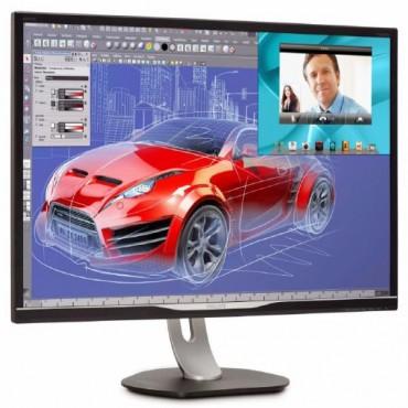 """Philips Monitor 32"""" 16:9 LED,328P6VJEB, 3840x2160 (4K), Input: DVI-DL/VGA/HDMI,DP, Speakers"""