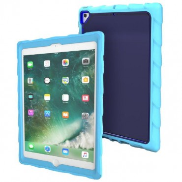 "Gumdrop DropTech Clear Rugged iPad 9.7 Blue Case - Designed for: New iPad 9.7"" 2018/ 2017 (Models"