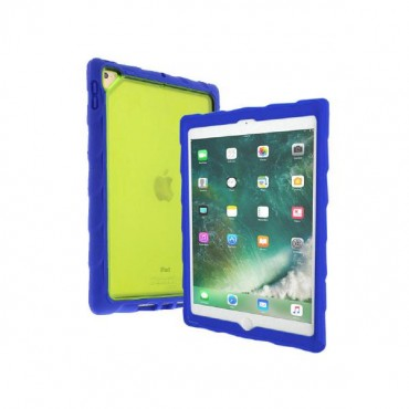 "Gumdrop DropTech Clear Rugged iPad 9.7 BLUE/ LIME Case - Designed for: New iPad 9.7"" 2018/ 2017"