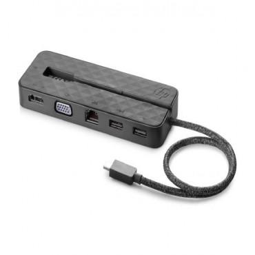 HP USB-C Mini Dock Hdmi Vga Usb 3.1 Usb 2.0 Rj45 Usb Type C 1Pm64Aa