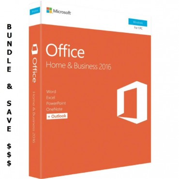 Microsoft Bundle Buy - 10 x Microsoft Office 2016 Home & Business, Retail Software, 1 User - Medialess