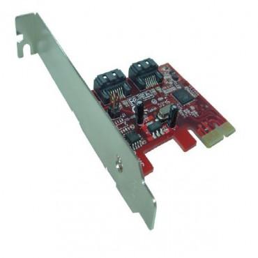 Shintaro PCIE V2.0 SATA3 6Gbps x 2 Port (LP & FH brackets included) SHPCIE2XS3