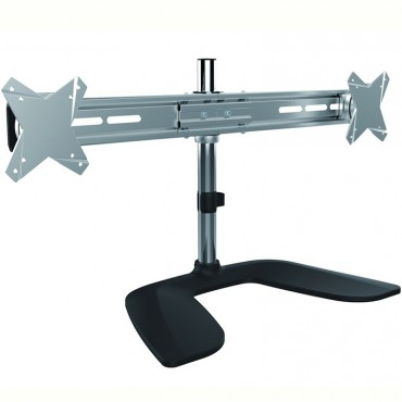 """Brateck Free Standing Dual Horizontal LCD Monitors Stand from 13''-27"""" LDT02-T02"""