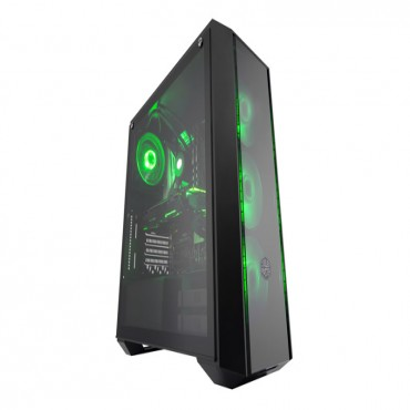 Cooler Master Masterbox Pro 5 Rgb Tempered Glass Window 3x Rgb Led Fans Rgb Splitter Cable Included
