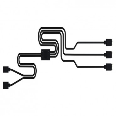 Cooler Master 1-to-3 Rgb Splitter Cable For Addressable Rgb Fan And Rgb Strip Compatible With Asus