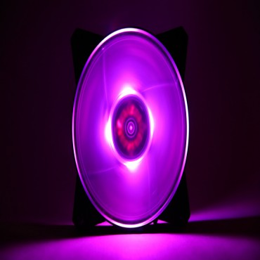 Cooler Master MasterFan Pro 120mm Air Balance RGB Fan, Buillt-in SmartIC, Silent/ Quiet/
