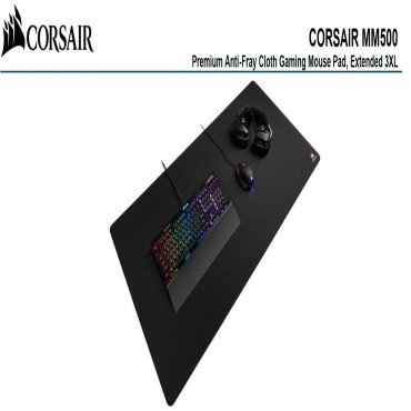 Corsair MM500 Premium Anti-Fray Cloth Gaming Mouse Pad — Extended 3XL (CH-9415080-WW)