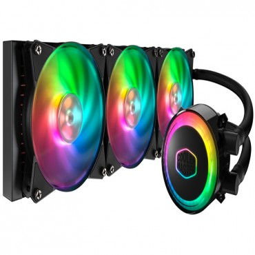 Coolermaster Masterliquid Ml360R Rgb Cpu Cooler Rgb Wb 3X120Mm Rgb Fan 360Mm Radiator Mlx-D36M-A20Pc-R1