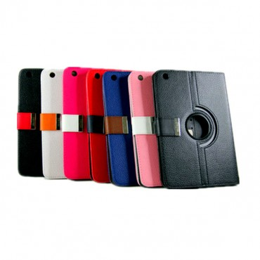 360 Rotational Leather Carry Case With Magnetic Flip For Mini Ipad (black Color Only) Mobacc7229ipadm