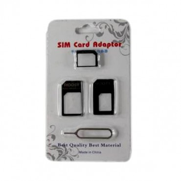 3 In 1 Sim Card Adaptor With Opening Pin Mobacc9826adpt