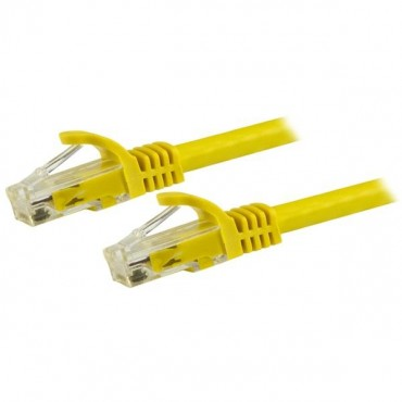 Startech Cable - Yellow Cat6 Patch Cord 7.5 m CAT6 Patch Cable | Snagless | 100% Copper Wire | Yellow | ETL Verified N6Patc750Cmyl