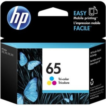 Hp 65 Tri-Colour Original Ink Cartridge N9K01Aa