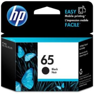 Hp 65 Black Original Ink Cartridge N9K02Aa