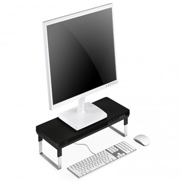 Deepcool M-Desk C1 Monitor Stand With Usb Charger Black & Grey Mdesk-C1