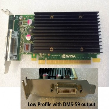 HP OEM SFF PCIe x16 Nvidia NVS 300, 512mb DDR3, DMS-59 output, Fanless Low Profile only (one month