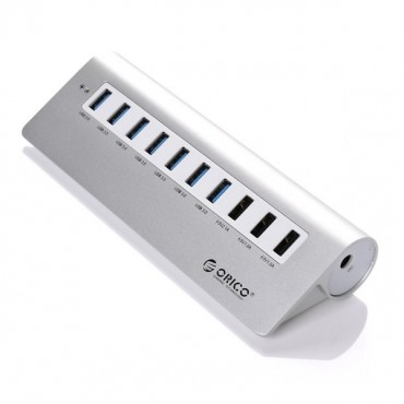 Orico Silver Aluminium M3H73P 7 Port USB3 Powered Hub With 3 Charging Ports ORC-M3H73P-V1-AU-SV