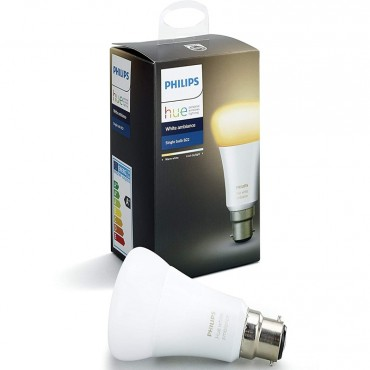 Philips Hue White Ambiance Bayonet Cap B22 Dimmable LED Smart Bulb