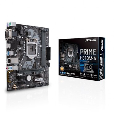 Asus Intel Lga-1151 Matx Motherboard With Led Lighting Ddr4 2666mhz M.2 Support Hdmi Sata 6gbps