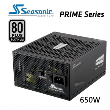 SEASONIC Prime 650w 80 plus Platinum SSR-650PD Active PFC F3 PSU PSUSEA650PD
