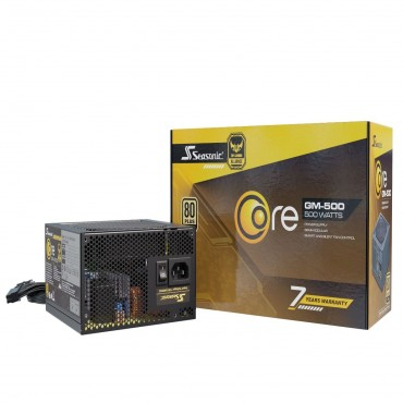 Seasonic Core Series 80 Plus Gold 500W Gm-500 Psu (Oneseasonic) Psuseafocus500Lm1