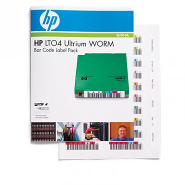 Hp Lto4 Ultrium Worm Barcode Label Pk 100 Pack Q2010a