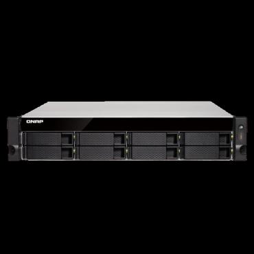 Qnap Ts-832Xu-Rp-4G 8-Bay Quad-Core 1.7 Ghz Rackmount Nas With 250W Redundant Psu 4Gb Ddr4 Udimm Ram (Max 16Gb) Sata 6Gb/ S 3Y Wty (No Rail Incl) Ts-832Xu-Rp-4G