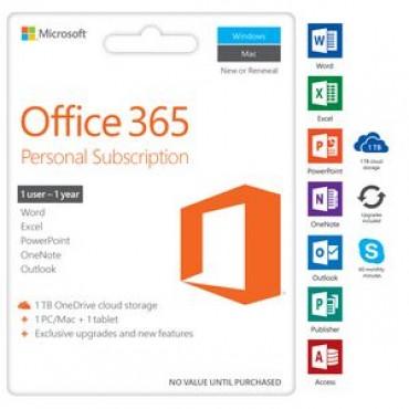 Microsoft Office 365 Personal Mac/ Win No Dvd Retail Box 1yr Sub P4 (revised Packaging) Qq2-00874