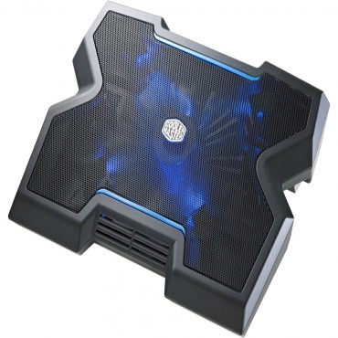 "Cooler Master Silent 200mm Fan With Blue Leds, Dedicated Front Vents, Supports Up To 17"" Laptops"