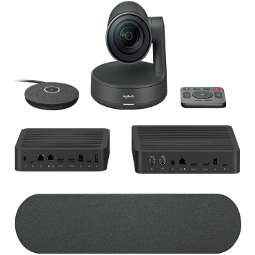 Logitech Rally Ultra Hd Conference System Kit Camera (1) Hub(2) Speaker(1) Mic Pod(1) 960-001219