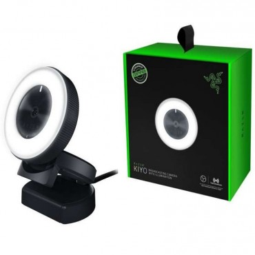 Razer Kiyo Broadcasting Camera with Illumination, Full HD Webcam, Great for Streaming and Video Calls RZ19-02320100-R3M1