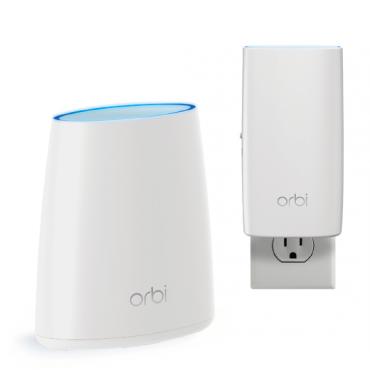 Netgear Orbi Whole Home Ac2200 Tri-band Wifi System (wifi Router & Wall Plug Satellite) Rbk330-100aus