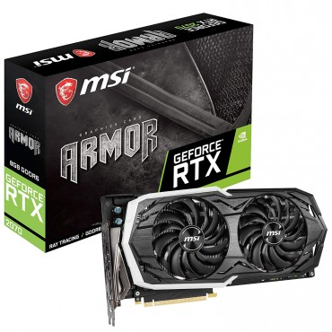 Msi Geforce Rtx 2070 Armor 8g Oc Ddr6 Nvidia Graphic Card Rgb Mystic Armor Thermal Boost Clock