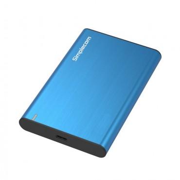 Simplecom SE221 Aluminium 2.5'' Sata Hdd/ Ssd To Usb 3.1 Enclosure Blue Se221-Bl