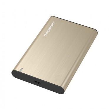Simplecom SE221 Aluminium 2.5'' Sata Hdd/ Ssd To Usb 3.1 Enclosure Gold Se221-Gd