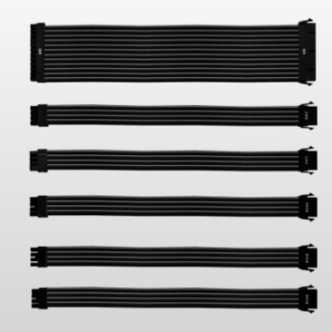COOLER MASTER BLACK EXTENSION CABLE KIT UNIVERSAL PSU EXTENSION CABLE KIT WITH PVC SLEEVING (Cma-Nest16Xxbk1-Gl)