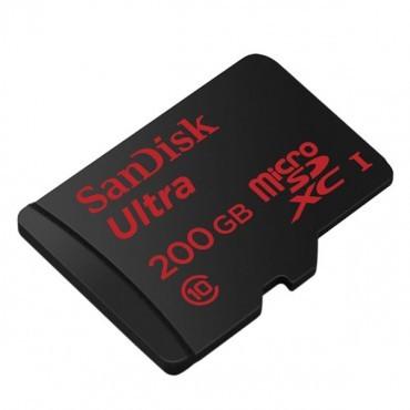SanDisk MICRO SD: 200GB Ultra microSDXC UHS-I Card 90MB/ s 20hrs recording SDSDQUAN-200G-Q4A