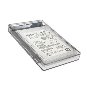 "Simplecom Se203 Tool Free 2.5"" Sata Hdd Ssd To Usb 3.0 Hard Drive Enclosure Clear Se203-Cl"