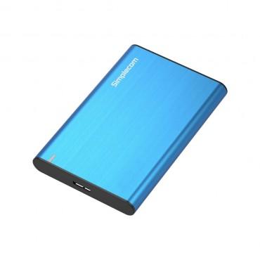 Simplecom Aluminium Slim 2.5'' Sata To Usb 3.0 Hdd Enclosure Blue (SE211-BL)