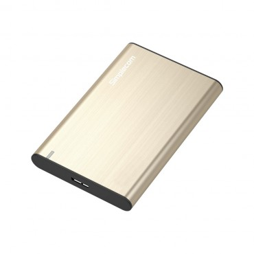 Simplecom Aluminium Slim 2.5'' Sata To Usb 3.0 Hdd Enclosure Gold (SE211-GD)