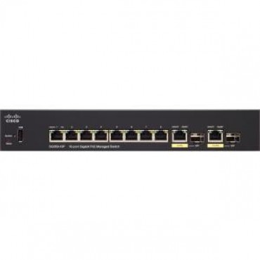 Cisco (sg350-10p-k9) Cisco Sg350-10p 10-port Gigabit Poe Managed Switch Sg350-10p-k9-au
