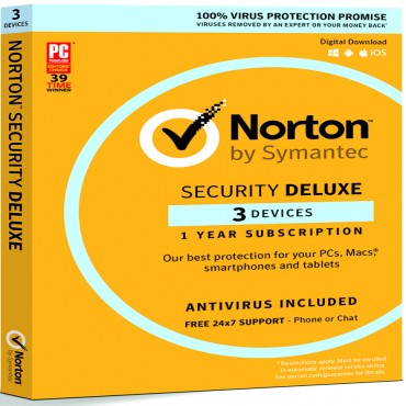 NORTON SECURITY DELUXE 3.0 AU 1 USER 3 DEVICE 12MO RETAIL 21380052