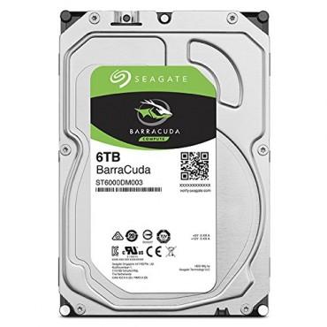 "Seagate Barracuda Desktop Internal 3.5"" Sata Drive 6tb 6gb/s 5400rpm 2yr Wty St6000dm003"