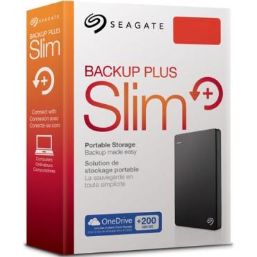 "Seagate Stdr1000300 Backup Plus Slim, 1tb, Usb3.0, 2.5"" Ext, Tuxedo Black"